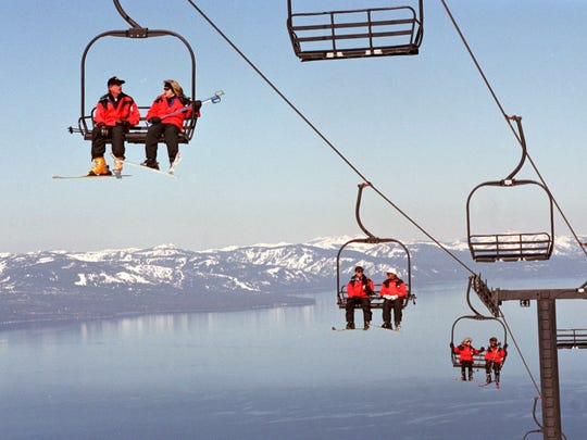 CHAIR-WAY TO HEAVEN: The panoramic Lake Tahoe views from near the summit at Heavenly are hard to beat.