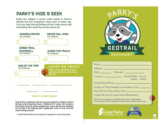 Passport for kids at Great Parks of Hamilton County.
