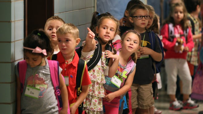 A file photo of students at Cobbles Elementary School in Penfield in 2013.