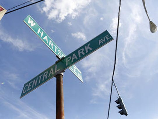 The 'Four Corners' intersection of Hartsdale and Central