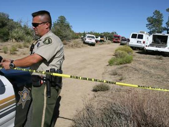 This 2006 photo shows a Riverside County sheriff's