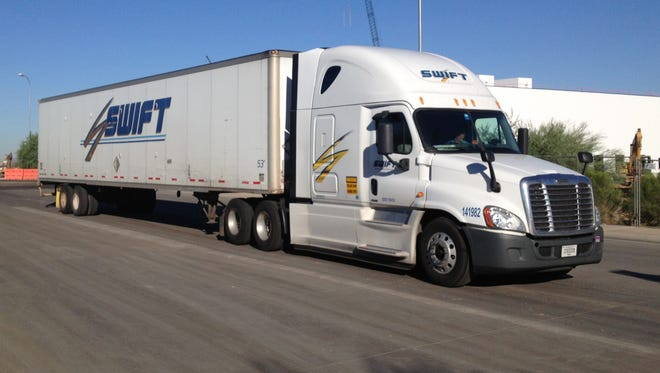 Phoenix trucking giants Knight and Swift announced Monday they will merge to form a shipping venture with $5 billion in annual revenue.