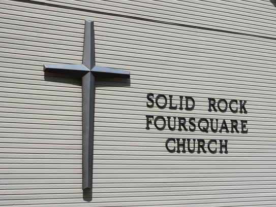 Two members of the Solid Rock Foursquare Church actively