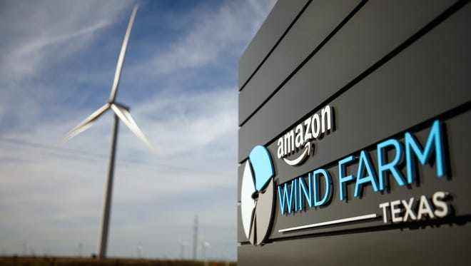 Amazon's largest wind farm, Amazon Wind Farm Texas, sends more than 1,000,000 megawatts of electricity to the grid each year. Amazon has launched 18 wind and solar projects across the U.S., with over 35 more in the works.