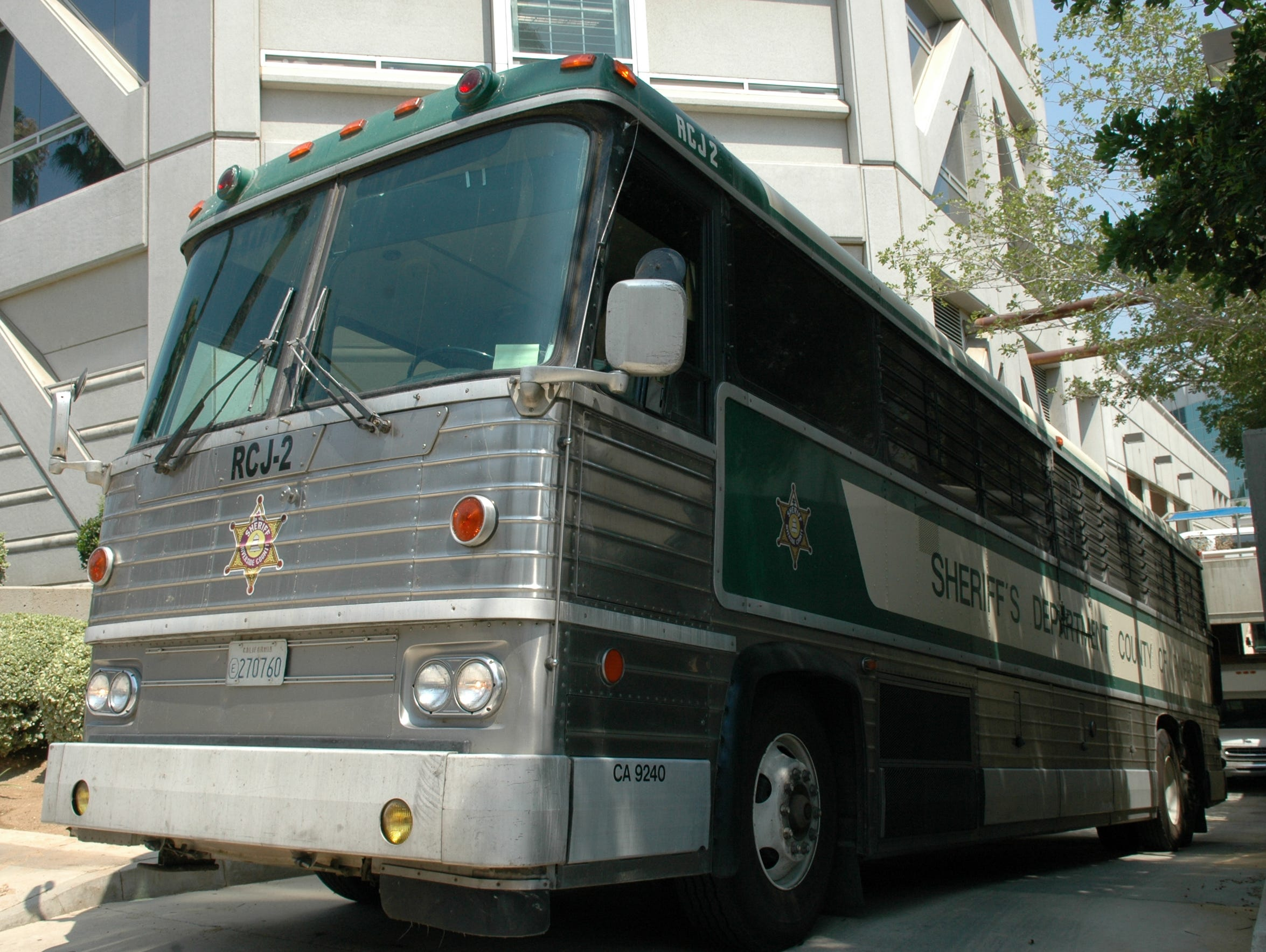 A Riverside County jail bus, just like the one that