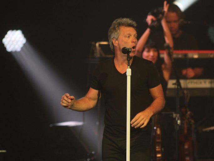 Jon Bon Jovi and the Kings of Suburbia perform at the Count Basie Theatre in Red Bank Wednesday July 30 Red Bank NJ.   Photo by Robert Ward