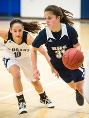Ella Decelles enters her freshman year as Burlington's starting point guard.