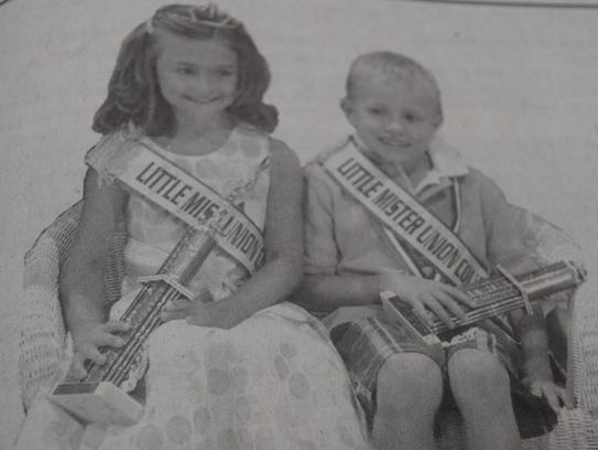 The 2007 Union County Fair Little Mr. and Miss couple,