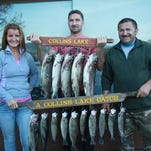 This group got limits fishing at Collins Lake from the shore near the dam using Powerbait and lures.