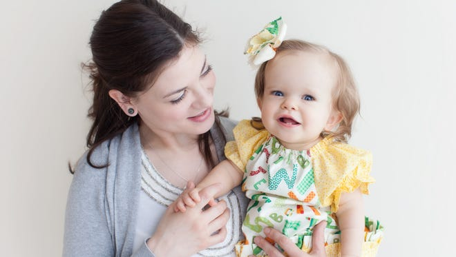 Michelle Martinka and her daughter