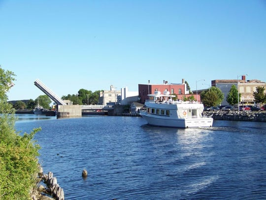 A tour boat in Alpena, Michigan, home of the Thunder