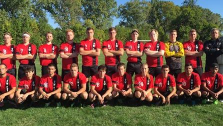 The University of Wisconsin Fox Valley men's soccer team.