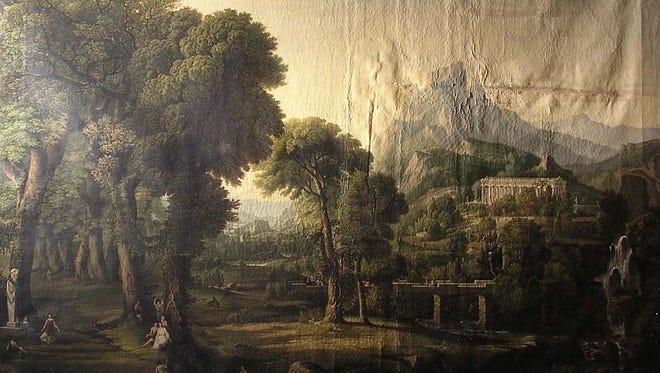 "Gerhard Nollen's masterpiece ""Dream of Arcadia,"" before treatment."