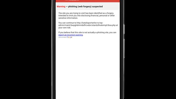 Google's Android app has anti-phishing tools