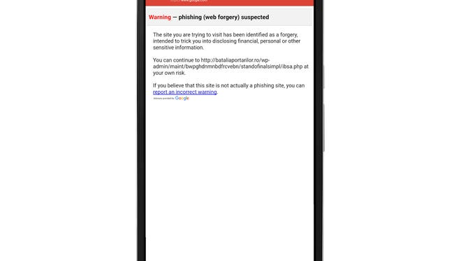 Google's Android app has anti-phishing tools