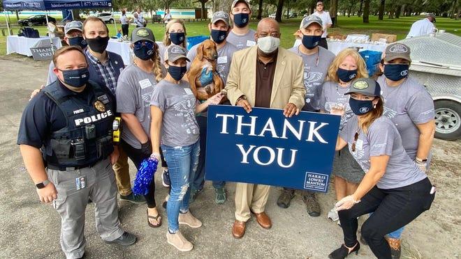 Team photo with Savannah Mayor Van Johnson and aldermen.