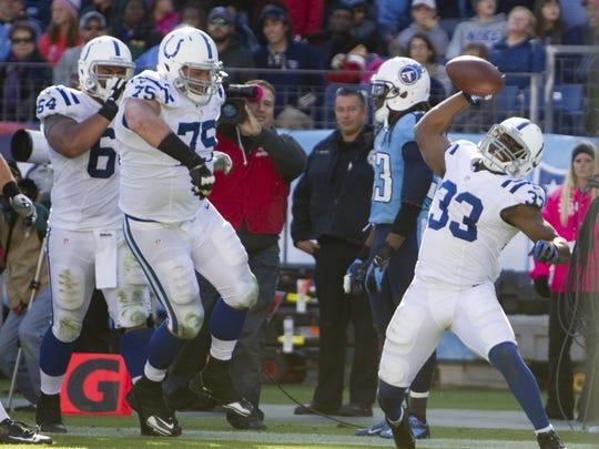 Ballard spikes the football after his game-winning
