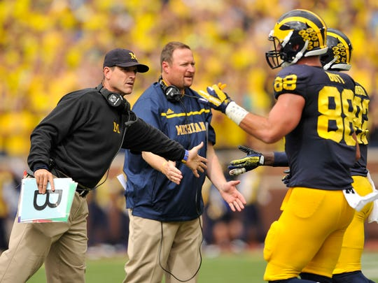 """Jim Harbaugh: """"We've written the prologue to this 2015 season. If it's going to be a great season then it's got to have one heck of a conclusion."""""""