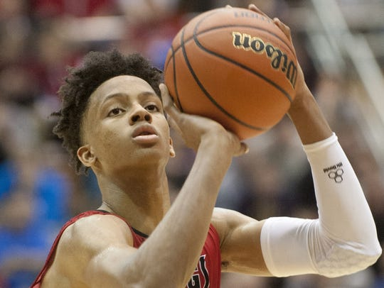 New Albany's Romeo Langford will miss time with a dislocated