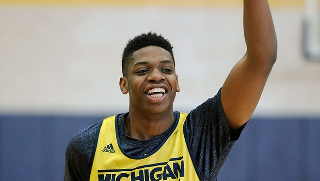 Michigan freshman forward Kameron Chatman