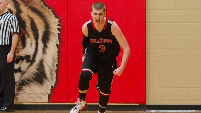 Bellevue's Chris Patterson scored a season-high 26 points in leading the Broncos past St. Philip in a Class D district championship game on Friday.