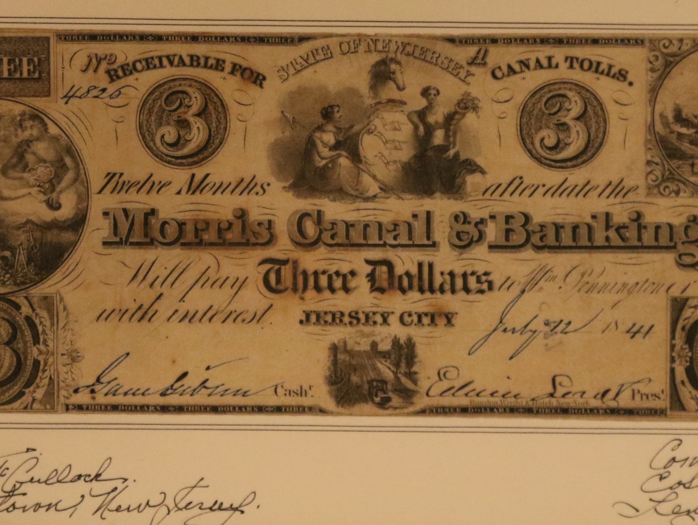 Money used to fund the Morris Canal and Banking Company.