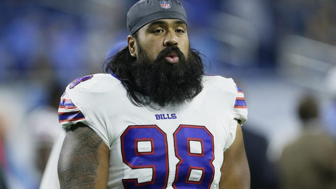 FILE - In this Aug. 23, 2019, file photo, Buffalo Bills defensive tackle Star Lotulelei (98) watches following an NFL preseason football game against the Detroit Lions in Detroit. The Bills starting defensive tackle is voluntarily opting out from playing this season.
