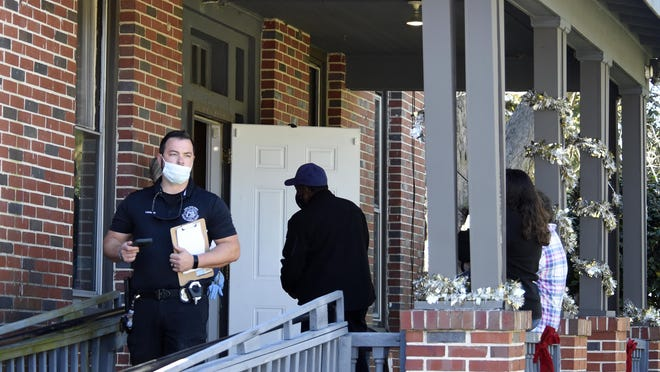 William Loomer, Investigator with the Crimes Against the Vulnerable and Elderly Task Force (C.A.V.E) stands outside the First Love Personal Care Home on Milledgeville Road in Augusta, Ga., Tuesday afternoon November 17, 2020.