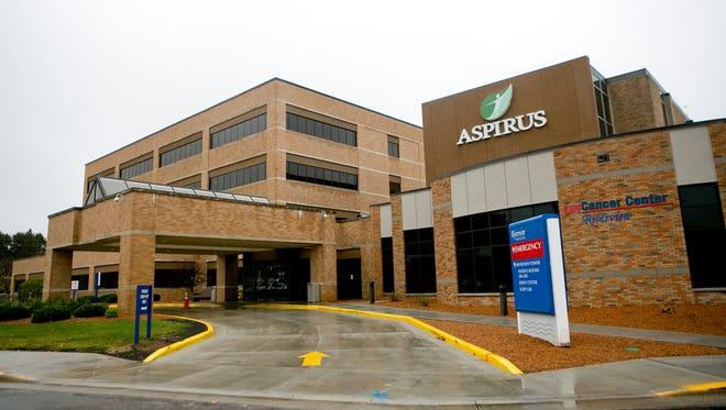 Aspirus Riverview Hospital in Wisconsin Rapids, Oct. 28, 2015.