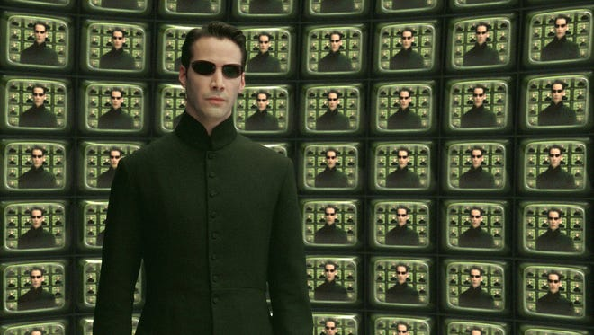 """Keanue Reeves as Neo from """"The Matrix"""" movie series."""