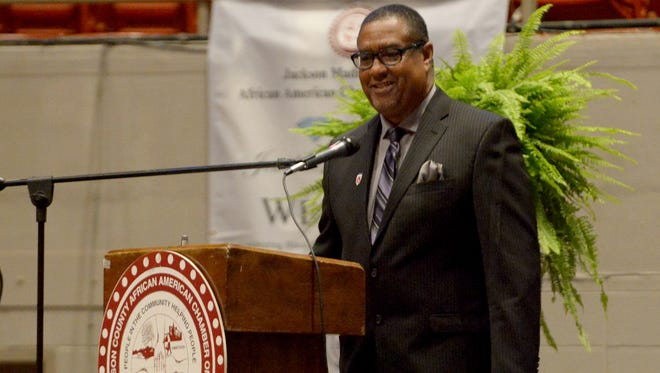 Duane Cherry was introduced as the new president of the Jackson-Madison County African American Chamber of Commerce on Friday during the 2016 JEWEL Awards Banquet.