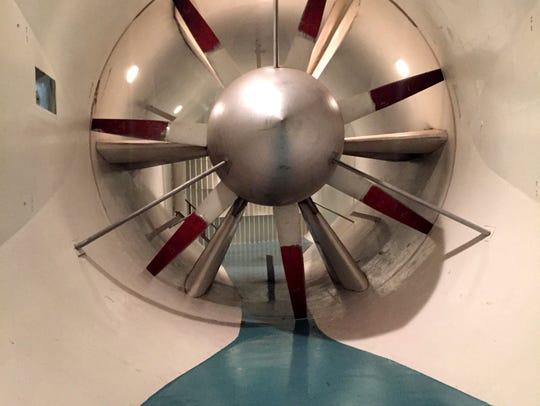 This turbine powers the Glenn L. Martin Wind Tunnel