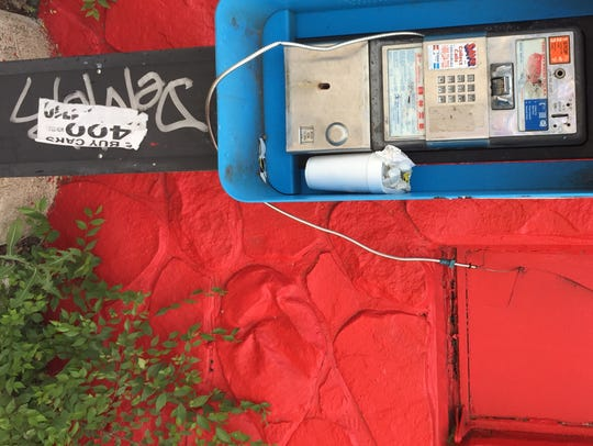 Insurance office pay phone