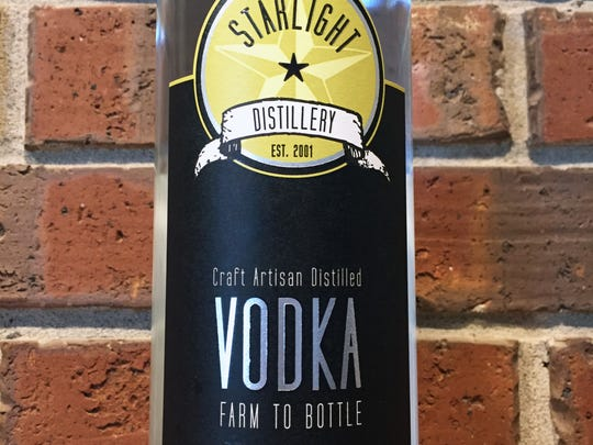Starlight Vodka is from Starlight Distillery, located at Huber Orchards, Winery and Vineyards.