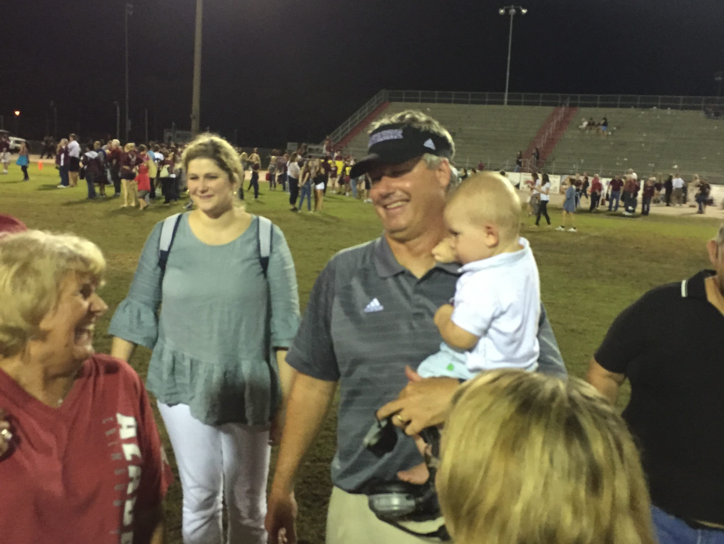 Under coach Jay Walls (pictured) the Navarre Raiders have held the No. 1 spot in the PNJ Power Poll for 11 weeks.