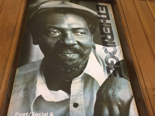 Etheridge Knight on a poster in the new Center for
