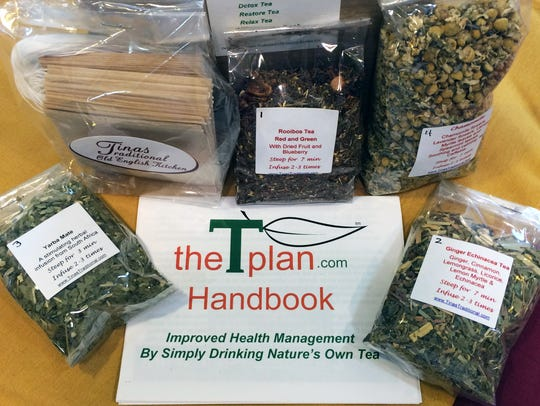 The T-Plan tea box from Tina's Traditional Tea Room.