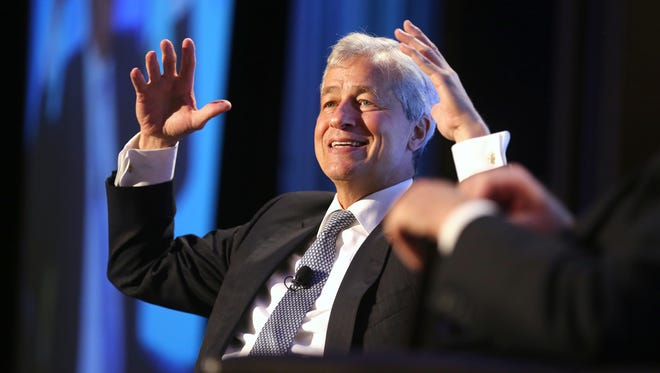 Jamie Dimon, CEO and chairman of JPMorgan Chase & Co., talks about the relationship between poverty and the economy during Cincinnati Works' 20th anniversary luncheon at Xavier University.