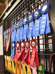 Ribbons on display at the Crosswinds Equestrian Center