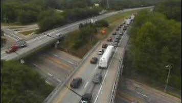 An accident has closed I-95 southbound between the Marsh Road and U.S. 202 exits, DelDOT says.