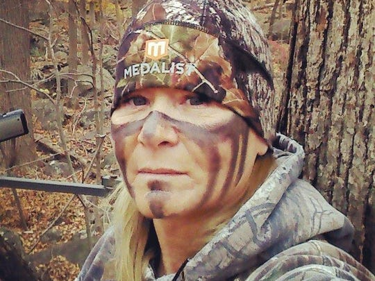 """Kaylee Jackson of Flippin is shown while hunting. Jackson is vying to be selected as """"Extreme Huntress"""" in a search being conducted for the web-based series."""