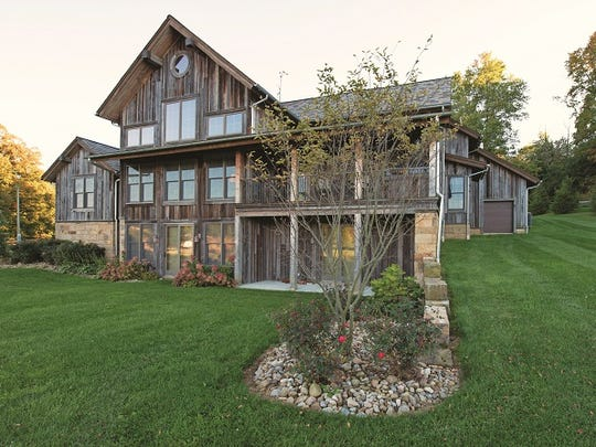 This Canton, Ohio, home was constructed using 80 percent reclaimed materials.
