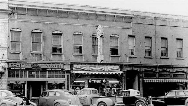 Starkey-McCully Building in the 200 block of Commercial St. 1945.