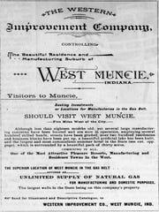 "An ad promotes ""West Muncie."""