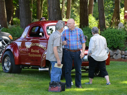 Marquam residents Wilber and Darlene Vanderbeck celebrated their 60th wedding anniversary with friends and classic cars on July 5, 2014.