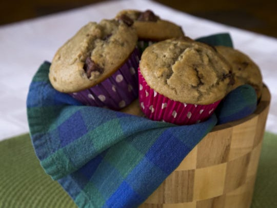 Banana Muffins with Candy Chips from Robin Miller.