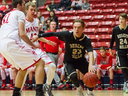 Desert Hills High takes on Manti during the Coach Walker