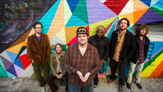 Captain Green. Pictured left to right: trumpet player David Melancon, lead guitarist Grant Hudson, keyboardist Ross Hoppe, drummer Michael Harris, saxophonist Darin Jones and bassist Robert Kling