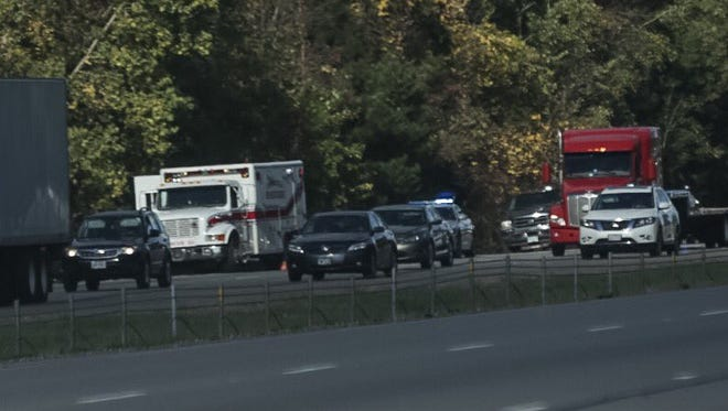 Traffic is halted on Interstate 71 in Ohio after a crash involving a Rochester man.
