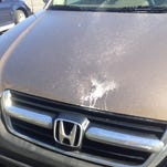 "Keith Bales of Independence, Ky., discovered high winds had knocked chunks of a parking overhang onto his 2004 Honda CRV in February while he was parked at a hotel in Newport. The hotel's insurance company denied his claim, citing an ""act of nature."""